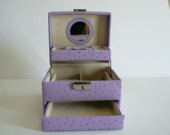 Jewelry Box Mauve, Jewelry Storage, Bedroom Decor