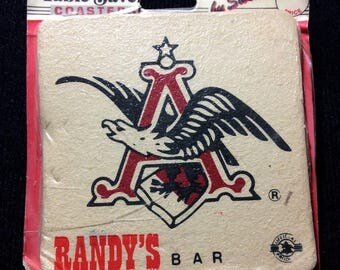 AB Anheuser Busch Vintage Coasters Randy's Bar Swibco Illinois