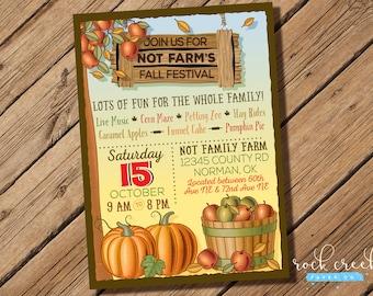Fall Festival Invitation, Autumn Harvest invitation, Fall Celebration, Autumn Festival, Farm Festival, Printable Event Invitation