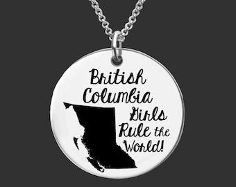British Columbia Necklace | British Columbia Jewelry | Canada Necklace | Canada Jewelry | Bridesmaid Gifts | Daughter Gift | Korena Loves