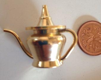 Brass Miniature Dollhouse figurine furniture collectable - Tea Coffee Pot