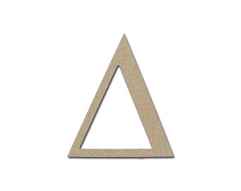 """Greek Letter Delta Symbol Unfinished Wooden MDF Letters 12"""" Inch Tall Paintable Cutouts"""