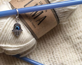 Hamsa hand stitch marker or progress keeper