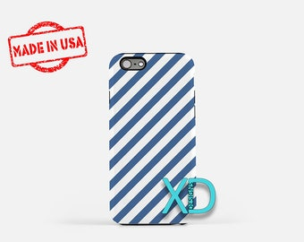Blue Candy Cane iPhone Case, Blue iPhone Case, Candy Cane iPhone 8 Case, iPhone 6s Case, iPhone 7 Case, Phone Case, iPhone X Case, SE Case