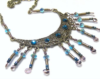 Gypsy Queen Necklace, Boho Necklace, Gifts for Her, Boho Christmas, Bohemian Jewelry, Christmas Gift