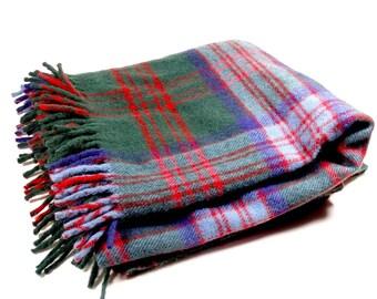 Troy Robe Plaid Wool Blanket Throw - Picnic Stadium Throw - Plaid Blanket - Cozy Cabin Decor