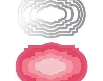 Sizzix Framelits Dies 5/Pkg-Ornate Labels #2