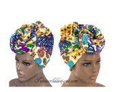 Best Patchwork fabric head wrap, regular size /Fabric from Africa / African Hair Wraps/ African Head scarf/ African head wraps/ HT160