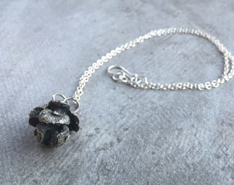 Pine Cone Silver Necklace