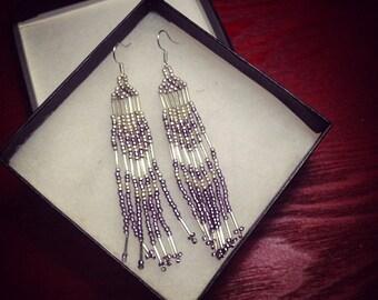 Chandelier Glass Beaded Earrings