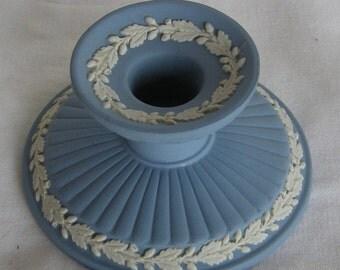 Wedgwood Blue Jasperware Candlestick