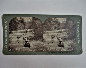 Vintage Stereoview Card #504 Below the Falls Minnehaha Minnesota Cosmopolitan Series E & H T Anthony Co Collectible Vintage Stereoview