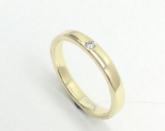 Delicate Wedding Band - Gold and Diamond Ring, Diamond Wedding Ring, Gold Wedding Band, Delicate Diamond Ring, Minimalist Diamond Ring