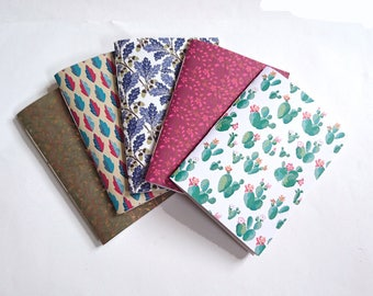 Leaves and Flowers A5 Paperback Notebook Collection