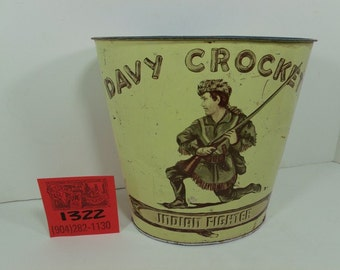 1950's Davy Crockett-Indian Fighter Waste basket