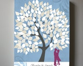 Wedding Guest Book Alternative 150 leaves Family Tree Canvas Art, Couples Gift, Anniversary Wedding Gift, Wedding sign,