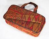 Vintage 60's Tapestry Handbag with Umbrella Holder