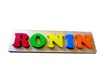 Solid Wood custom Name Puzzle - Personalized Name Puzzle - puzzle with name - toddler puzzle - kids name puzzle - made in Canada