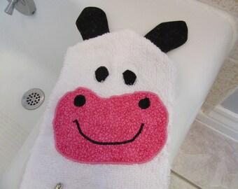 Cow Bath Mitt Puppet