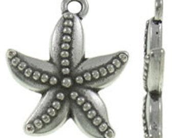 "8pcs Starfish Charms Antique Tibetan Silver Starfishes Lead FREE Nickel FREE 19x22mm 7/8"" Nautical Ocean Beach Sea Pendants DIY Jewelry Maki"
