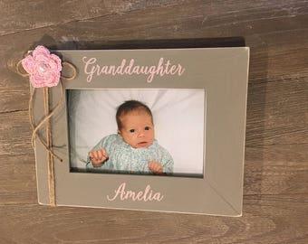 Personalized Granddaughter Grandmother Grandma Grandfather Grandpa Grandson Picture Photo Frame