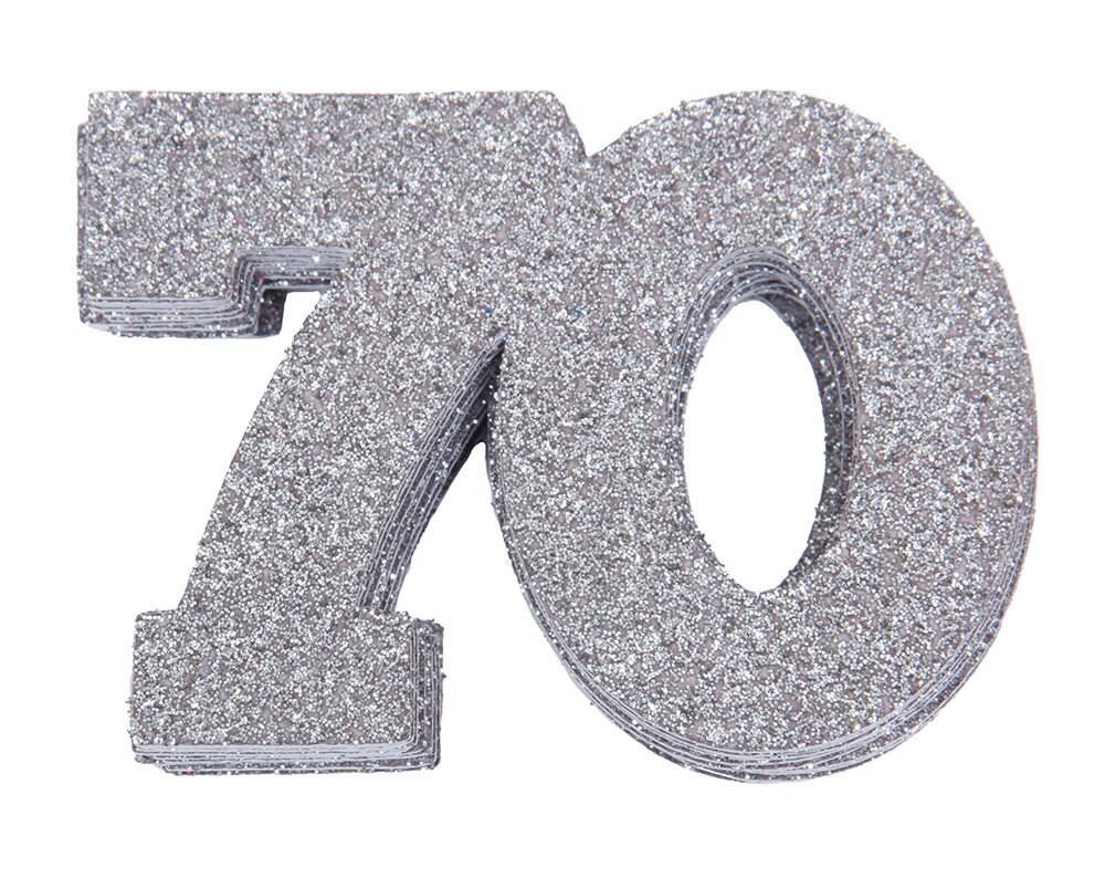 70th Birthday Confetti 70th Anniversary Confetti Seventieth Birthday Party Decor 70th