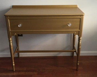 Metallic Gold Mahogany Sideboard/Buffet/Entryway Table