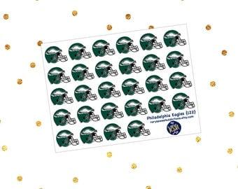 Philadelphia Eagles Football Helmet {122}