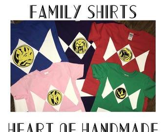 Child Power Ranger costume / birthday shirt
