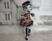 Dark brown, mauve, black and green pirate & steampunk set Hand made fits Monster High doll
