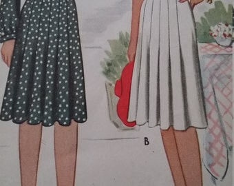 Vintage McCall 5295 Sewing Pattern 16 of 21 Pieces are Uncut and 5 Used One-Piece Dress Size 16 Bust 34