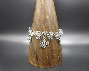 Snowflake Saggyloops Chainmaille Bracelet