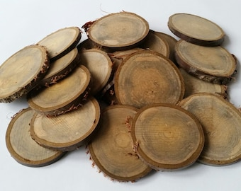 Spalted cherry wooden slices, 7-8cm, Tree slices, wood slices, branch slices, wooden slices, wedding, UK, name tags, wedding, crafts