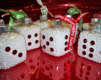 Three Adorable Bunco Dice Ornaments