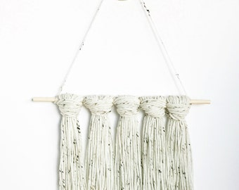 Freckled Ivory Tapestry / Yarn Wall Hanging