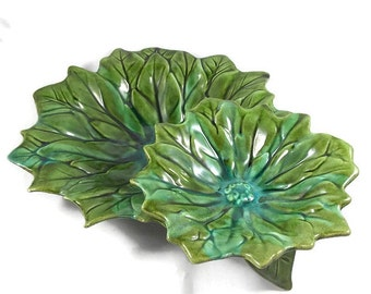 Marcia of California Pottery Two Tier Sunflower Serving Dish RE700