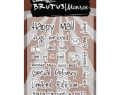 Brutus Monroe Clear Stamp Set - Happy Mail
