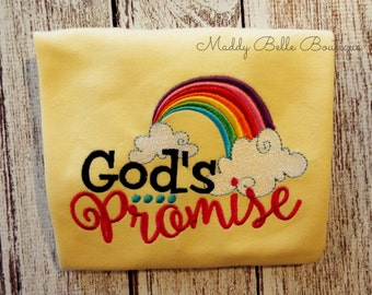God's Promise Embroidered Shirt, Personalized, Monogram, Religious, Jesus, Promise