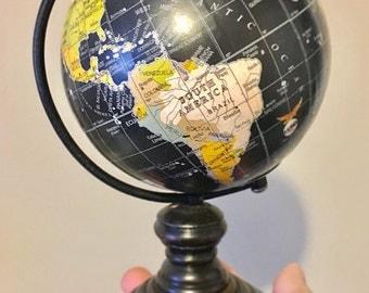 Sale! Customizable Small Black/wooden globe
