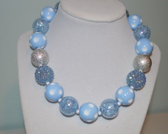 Blue Chunky Bubblegum Necklace