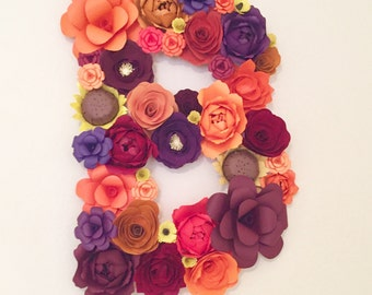 Giant Paper Flower Letter (approx. 3ft tall)