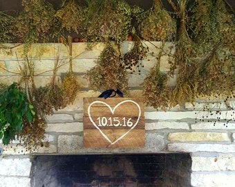 Wedding Date Wooden Sign