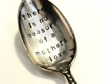 "Vintage Spoon magnet   - ""there is no measure of a mothers love"" - mothers day gift"