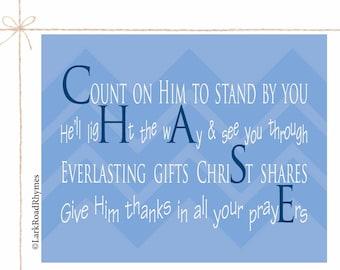 God Son Gift Baptism Print Baby Baptism Gift Baby Dedication Gift Baptism Keepsake Personalized Name Poem Christian Nursery Decor 8x10 Chase