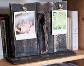 Reclaimed Wood Double 4x6 or 5x7 Photo Holder