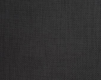 Charcoal Polyester/Linen Blend Fabric with sparkles, curtain fabric, Upholstery Fabric, pillow, fabric by the yard, Drapery fabric, sold