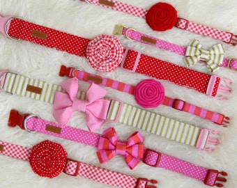 2017 Valentine's Day Collection - Modern Girly Romantic Dog Collars