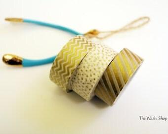 Gold Washi Tape Set of 3