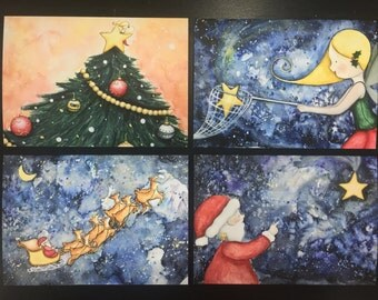 Flossie Christmas Cards Pack of Four