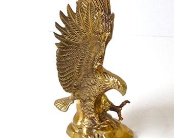 vintage solid brass eagle sculpture spirit animal